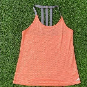 Orange and gray halter style tank top